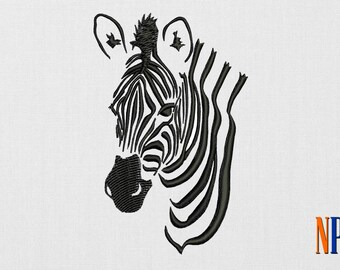 INSTANT DOWNLOAD - Zebra machine machine embroidery design. Patterned zebra. Embroidery file