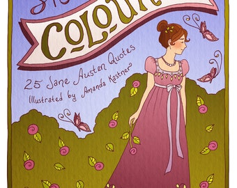 She Coloured: 25 Jane Austen Quotes Coloring Book