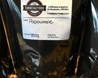roasted to order, Coffee beans from Papua, fresh from the day, artisanal, exclusive, selected by our expert barista, 800g