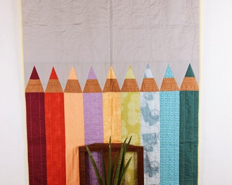 Baby organic blanket, baby quilt, coloured blanket, cotton, modern design, original design