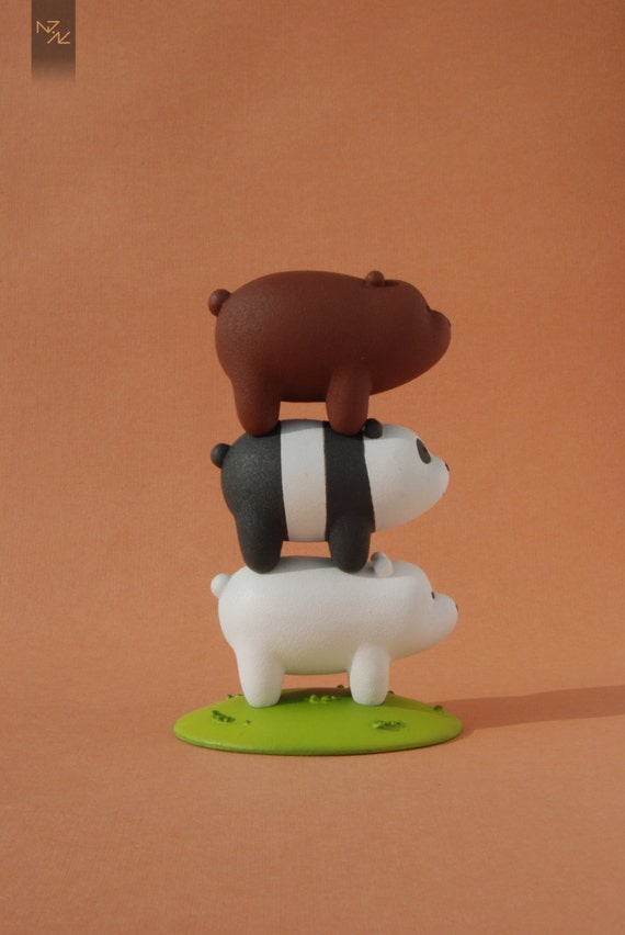 We Bare Bears Bears Stack Grizzly Panda Ice Bear Figure