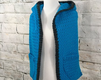 Hoodie Scarf, Hooded Scarf, Scarf with Pocket, Panthers, Petite Clothing, Winter Scarf, Tailgate Clothing, Scarf Wrap, Hooded Wrap, Cowl