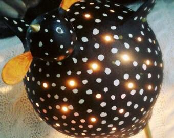 Chicken lamp black