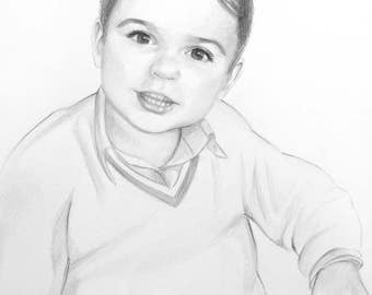 Portrait of a boy.  drawing of a child, children, рortrait of woman, girl, manface, graphic, pencil portrait, classic