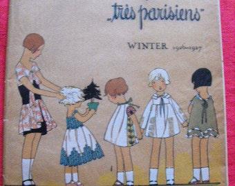 """Children """"Very Parisian"""" Winter 1926-1927 j. Dory Germaine Joumard American fashion magazine"""