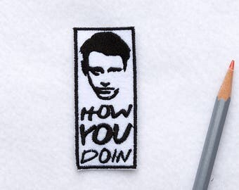 Friends tv show patch Joey patch 90s patches How you doin patch Iron on patch Cute patches Bag patch Movie patch Vintage patch Gift ED9047