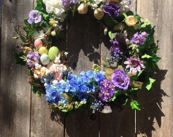 Easter Wreath/Mr.&Mrs. Cotton Tail