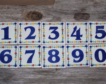 Talavera Ceramic Home Address Tile Numbers Patio Home Garden Pottery Numbers