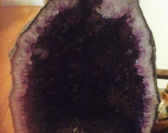 Large cathedral amethyst geode
