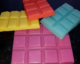 Wax Bars or Clamshell melts scented with the choice of over 60 fragrances