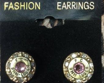 Pink Bullet Earrings