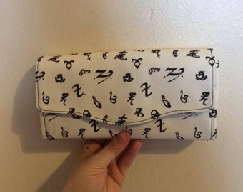 Shadowhunters/The Mortal Instruments Inspired Necessary Clutch Wallet, NCW, Wallet, Clutch, White, Handmade