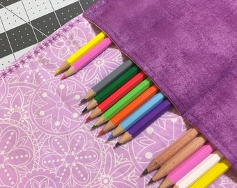 Colored Pencil Holder, Roll up Pouch