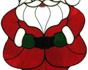 Stained glass Leaded glass Santa Claus sun catcher/ornament