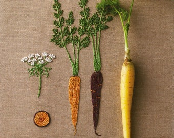 EMBROIDERED KITCHEN GARDEN by Kazuko Aoki (Japanese craft book, Japanese embroidery book)