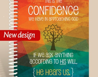 He Hears Us Prayer Journal / Personalized Notebook