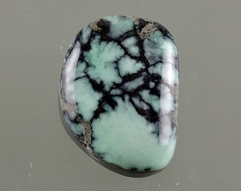 New Landers Cabochon, Chalcosiderite Cabochon, Spiderweb Cab,  Chalcosiderite Cab, New Landers Cab, Gift, C2316, Handcrafted by 49erMinerals