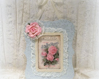 Shabby Chic Decor, Mothers Day Gift, Pink Rose Print, Shabby Chic Roses, Victorian Home Decor, Framed Rose Print, Romantic Home Decor