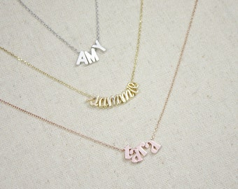 MOTHERS DAY GIFT Custom Name Necklace | Personalized Jewelry | Gift for Her | Child's Name | Sister | Aunt | Daughter | Mommy and Me