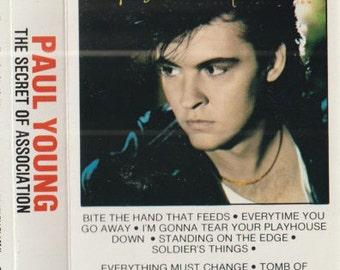 Paul Young - The secret association - vintage cassette tape - english pop rock singer - blue-eyed soul - 1985 - Free shipping Canada USA
