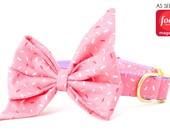 SALE - Crew LaLa™ Pink Sugar Sprinkles Belle Bow Dog Collar