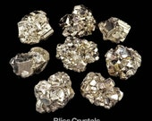 """Shiney Gold! 1 PYRITE Cluster Rough Nugget Stone Large 1""""+ Chunk aka Peru Fools Gold Healing Crystal and Stone #PR02"""