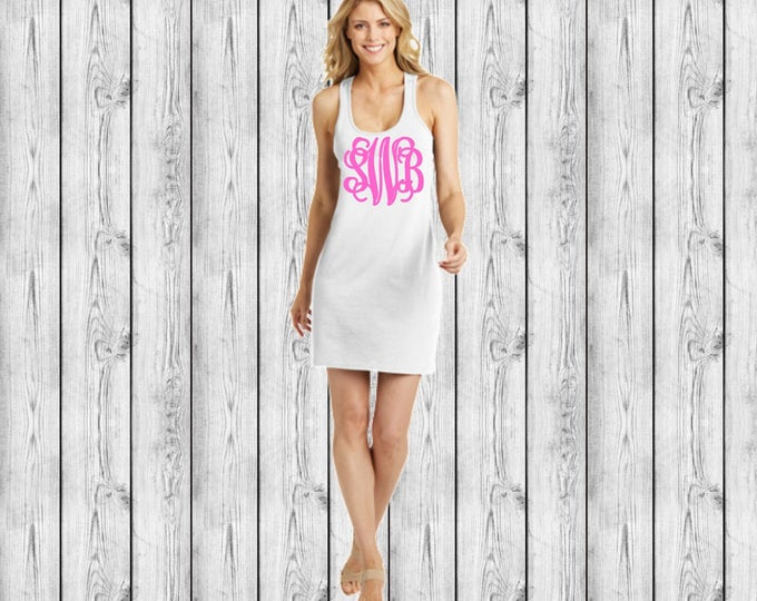 Monogram Swimsuit Coverup, Monogrammed Swimsuit Coverup, Monogram Swim Coverup, Bridesmaid Gift, Bachelorette Party, Girls Trip, Cruise