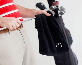 Gifts for Golfers, Personalized Golf Towel, Personalized Gifts, Monogram Golf Towel, Golf Accessories, Golf Gifts for Men, Gifts under 20