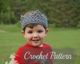 Crochet Pattern, Boys Crown Pattern, Birthday Crown, Crochet Crown PDF, Girls Crochet Crown, Little Prince Crown, PDF Pattern Crochet