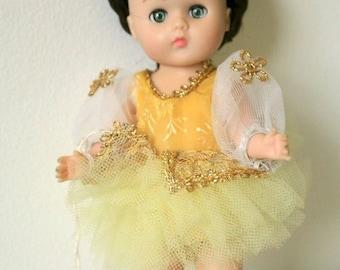 "Vogue Ginny Doll 1960s Ballerina Rare Original Box Collectors 8"" Straight Leg Walker No. 143"