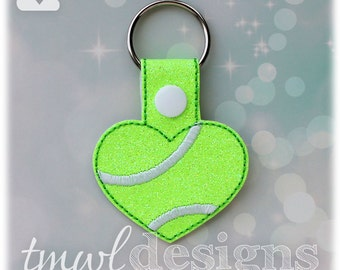 Tennis Heart Key FOB Digital Design File