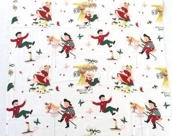 Vintage Nursery Rhymes Cotton Fabric 35 by 105