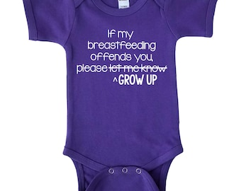 Breastfeeding Bodysuit - Breastfeeding Advocacy - Baby Shower Gift - Baby Girl - Baby Boy Bodysuit - Coming Home Outfit - Baby Gift