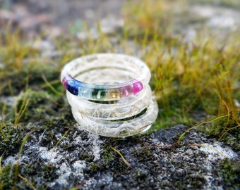 Yoga gifts gemstone ring chakra jewelry yoga jewelry birthstone ring chakra ring dainty ring karma ring mothers ring thin ring meditation