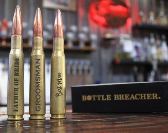 Groomsmen Gift. 7 Vintage 50 Caliber Bullet Bottle Openers. Wedding Party Gift. Best Man Gift. Father of the Bride Gift. Groom Gift