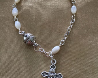 Hand Made Catholic First Communion Rosary Bracelet