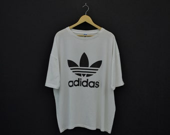 Adidas Shirt Men Size XL Vintage Adidas T 90s Vintage Adidas Relaxed T Made in USA