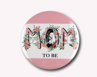 """3.5"""" large baby shower mom to be pin,chevron baby shower mom to be pin,mommy to be pin,chevron pin,ready to pop baby shower"""