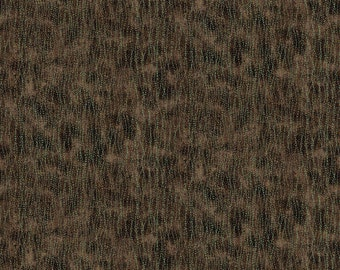 Shimmer Echoes 21461M-36 Fabric; Chocolate; Northcott Artisan Spirit; Fat Quarter, Third Yard, Half Yard, or By The Yard; Metallic