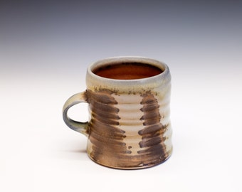 Wood Fired Porcelain Mug - Shino Liner Glaze, 0525003