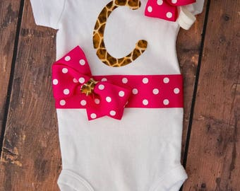 Customized monogrammed outfit and bow