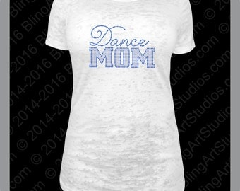 Rhinestone Transfer, Dance Mom Rhinestone Transfer, Rhinestone Dance Mom, Rhinestone Iron On Heat Transfer, Rhinestone Dance Mom #628