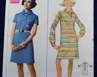 Vintage Sewing Pattern for a Woman's Dress in Size 14 - Butterick 5105