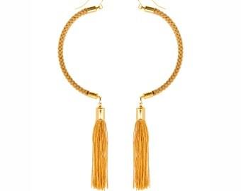 Tassel Earrings, Statement Earrings, Modern Earrings, Fashion Earrings, Rope Earrings, Dangle Earrings, Boho Earrings, Spring Jewelry