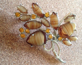 Vintage Flower Spray Brooch by Exquisite