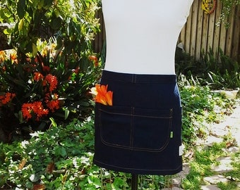Half Apron Denim Skirt