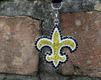 New Orleans Saints, Rearview MIrror Charm, Saints Football, Saints Decal, Saints Women, Who Dat? Nation, Car Accessory, Saints Gift, Bling