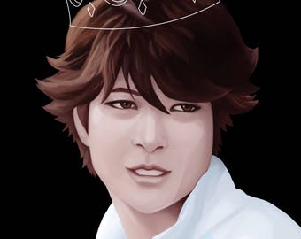 "Great King OIKAWA 8.5"" x 11"" Print"
