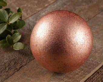 50mm COPPER Sphere - Solid Copper Ball, Copper Gift, Copper Metal Sphere, Copper Bead, Metal Ball, Crystal Grid, Healing Copper E0293