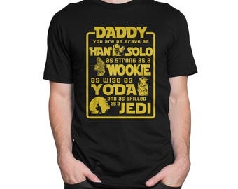 Father's Day Dad Star Wars Tshirt for Men
